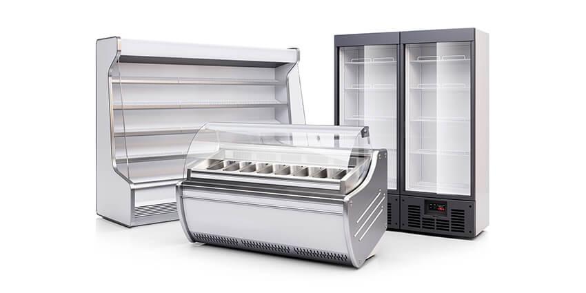 Vitríny, boxy, pulty na chladenie a mrazenie v potravinárskom priemysle
