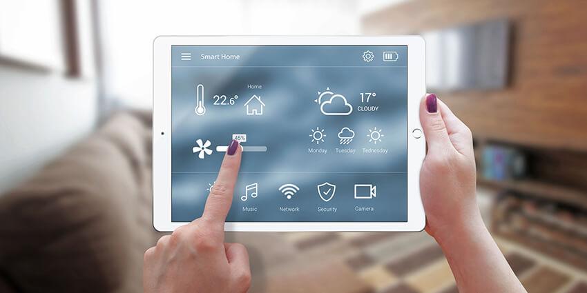 Smart domácnosť, ovládanie klimatizácie pomocou tabletu